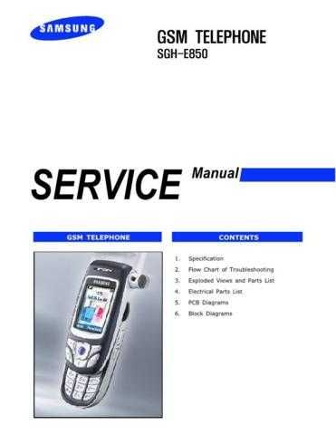 Samsung SGH-E850 Mobile Phone Service Manual by download Mauritron #306354