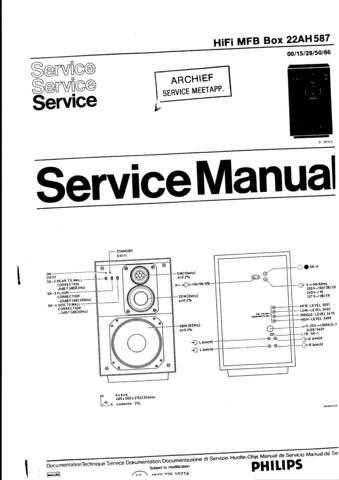 Philips 22AH587 Speaker System Service by download Mauritron #312571