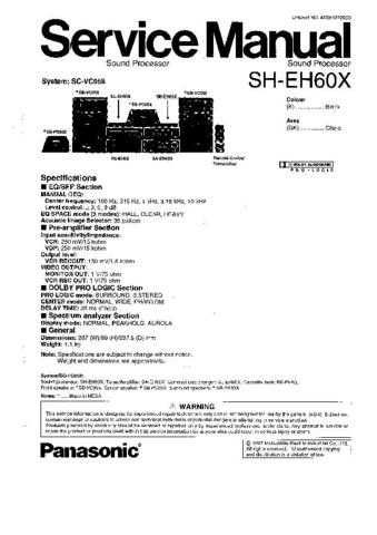 Technics SH-EH60X Manual by download Mauritron #306580