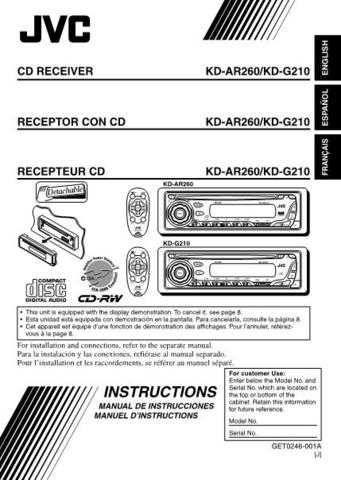 JVC KD-AR260-KD-G210-4 Service Manual by download Mauritron #281757