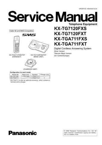 Panasonic TG7120FX_FINAL_71 Manual by download Mauritron #302292
