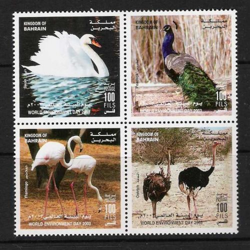 Bahrain Birds Block / 4 MNH