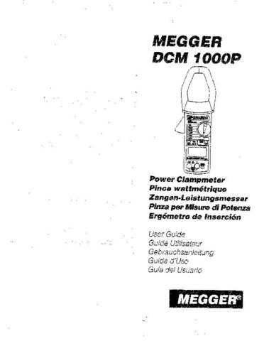 AVO DCM1000P Operating Guide by download Mauritron #309021