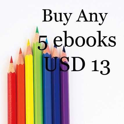 Sale buy 5 ebooks for USD 13