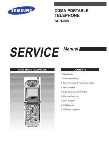 Samsung SCH-880 Mobile Phone Service Manual by download Mauritron #306256