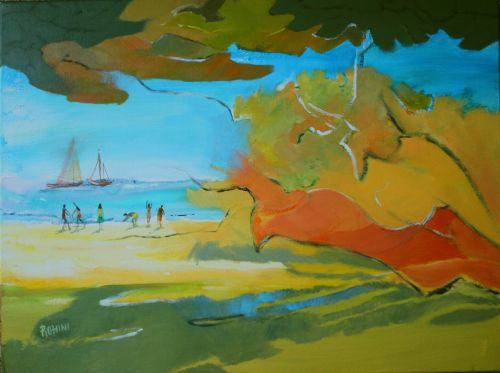 Sea scape - Original Mixed Media Acrylic on Canvas