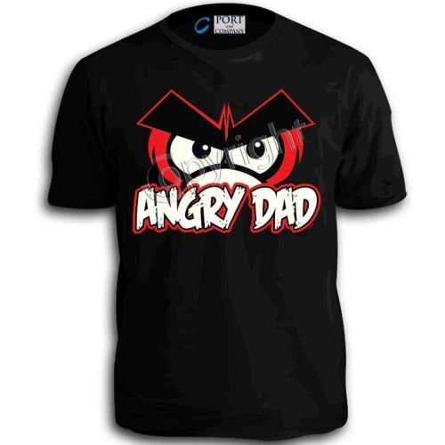 Angry Bird Dad T-Shirt Adullt Humor Funny Classic Gift Tee Top Clothing tee w D59