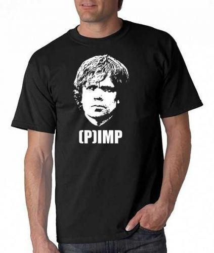 (P)IMP Tyrion Lannister T-Shirt HBO TV SHOW Pimp Game Of Thrones Geek Tee Shirt D59++
