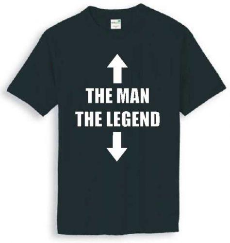 THE MAN THE LEGEND FUNNY SLOGAN T-SHIRT D59++
