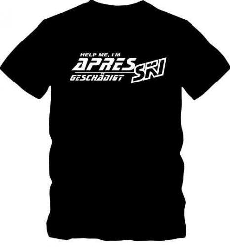 Apre Ski T-Shirt T-Shirt Skifahren T- Shirt bis 5 XL Funshirt D59