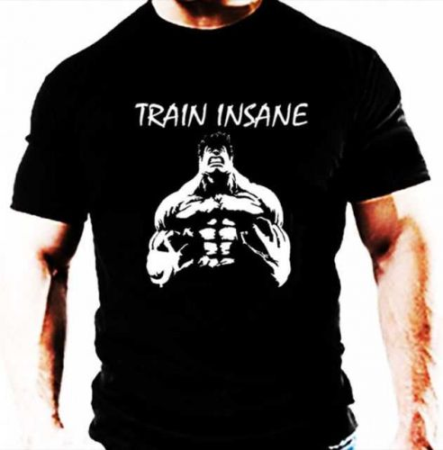 Beast Mode T shirt Casual Gym Bodybuilding Training Wear clothes top weights D59