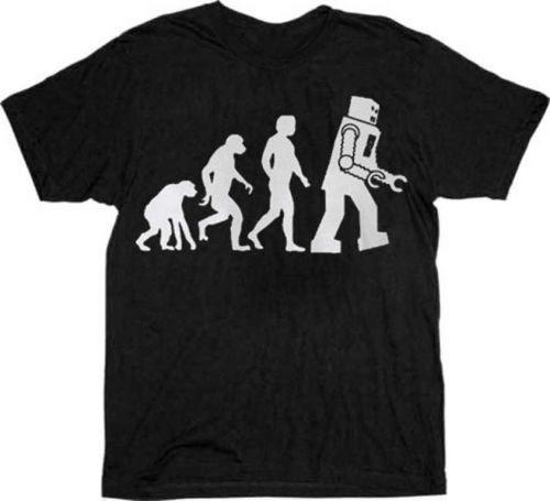Big Bang Theory Robot Evolution Shirt D59
