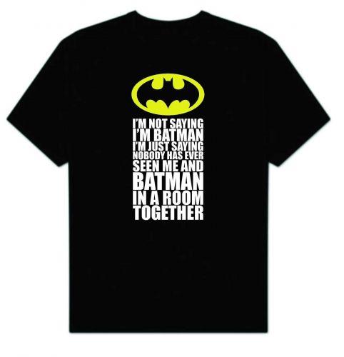 Big Bang Theory Sheldon Cooper I'm Not Saying I'm Batman D58