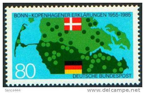 Germany 1437 mnh DANISH BORDER & FLAGS