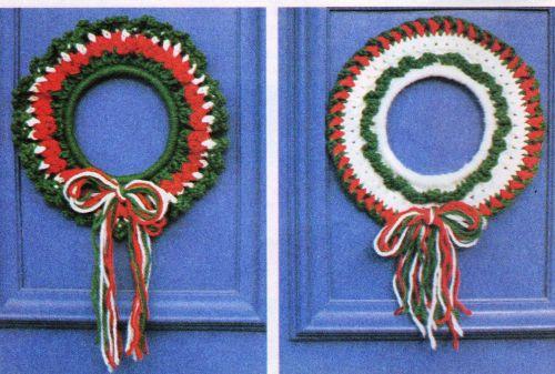 2 X Christmas Door Wreath Crochet PDF Pattern Digital Delivery