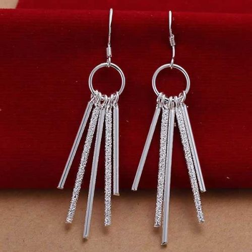 925 silver plated Tassel Dangle earring