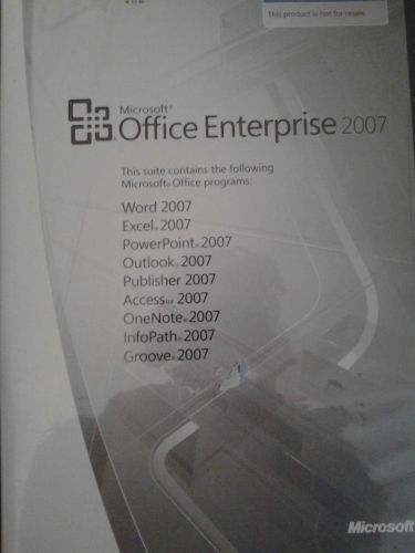FULLY FUNCTIONAL MICROSOFT OFFICE ENTERPRISE & OFFICE VISIO PROFESSIONAL 2007*
