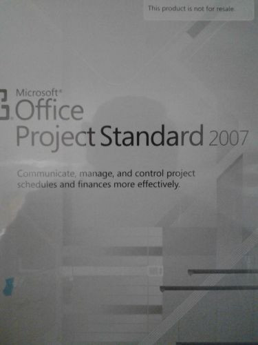 MICROSOFT OFFICE PROJECT STANDARD 2007*OPEN*VALID PRODUCT KEY*EXCELLENT COND*