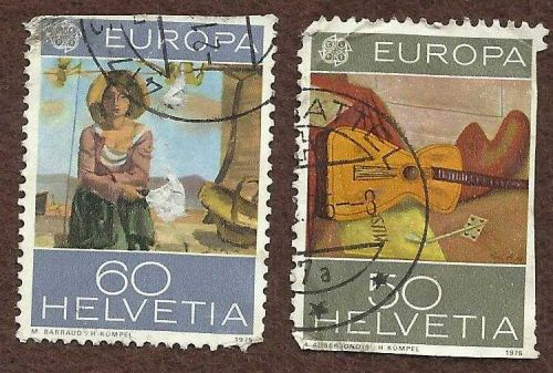 SWITZERLAND-FDC-EUROPA 1975 EUROPA CEPT Bern - Set of 2 stamps SC# 604-605