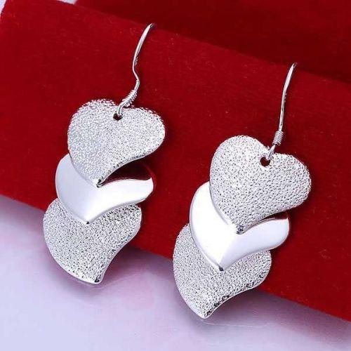 1 Pair Of 925 Silver Plated Earrings