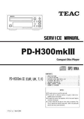 Teac PDH500 Service Manual by download Mauritron #319478