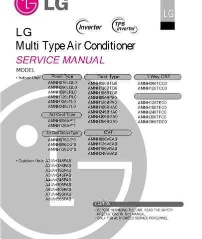LG LG-AMNH126TCC0. Manual by download Mauritron #304858