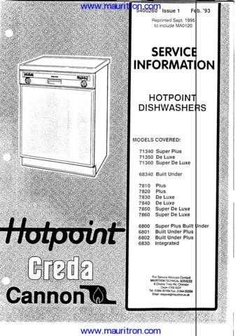 Hotpoint 7830 Manual by download Mauritron #326771