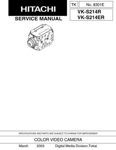 Hitachi VKK274R Service Manual by download Mauritron #286638