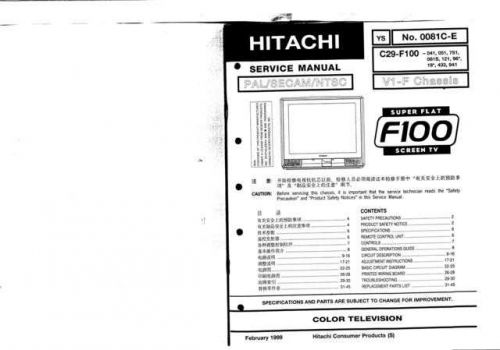 Hitachi C29-GF300K Service Manual by download Mauritron #288678