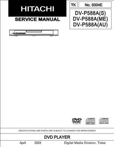 Hitachi DVP2E Service Manual by download Mauritron #289868