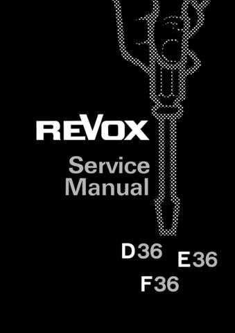 Revox D36 F36 Service Manual E by download Mauritron #313053