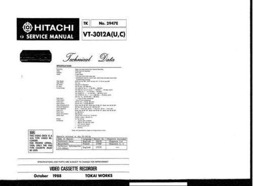 Hitachi TK-2947E Service Manual by download Mauritron #286371