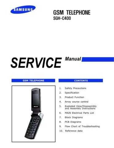 Samsung SGH-C400 Mobile Phone Service Manual by download Mauritron #306296