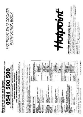 Hotpoint HBEH12 Operating Guide by download Mauritron #312096