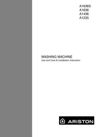 Ariston A-1636S Washer Operating Guide by download Mauritron #306769