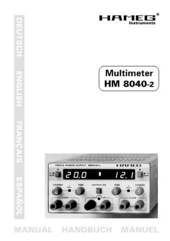 Hameg HM8040 2 english2 Operating Guide by download Mauritron #307265