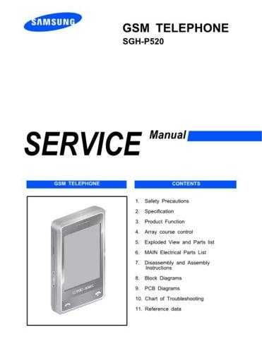Samsung SGH-P520 Mobile Phone Service Manual by download Mauritron #306406