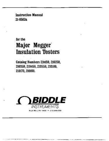 Biddle 210159 Series Operating Guide by download Mauritron #309252