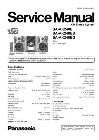 Panasonic SA_EH60_E Manual by download Mauritron #301652