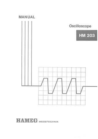 Hameg HM203-4 Operating Guide by download Mauritron #307158