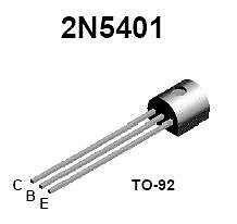 Transistor - 2N5401 PNP Hi-Voltage (TO-92) - 16 Pieces