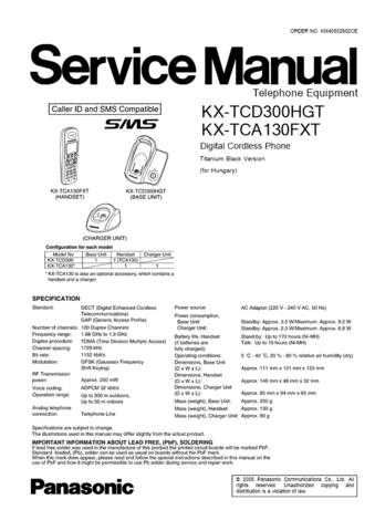 Panasonic TCD300HG FINAL0228(1) Manual by download Mauritron #302076