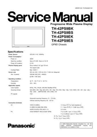 Panasonic TH-42PS9BS Manual by download Mauritron #302367