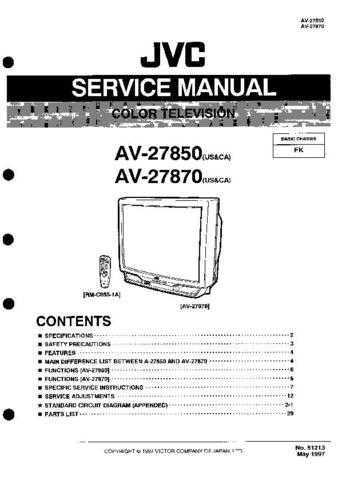 JVC AV-25MS25 Service Manual by download Mauritron #279744
