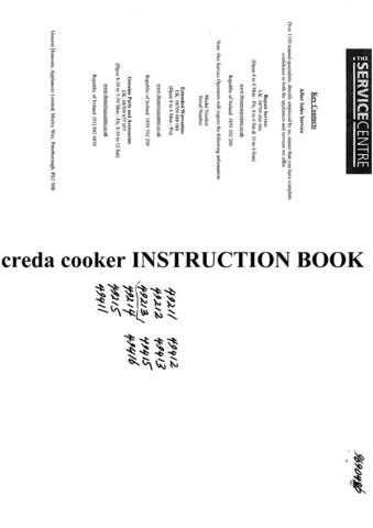 Creda 49416 Operating Guide by download Mauritron #312791