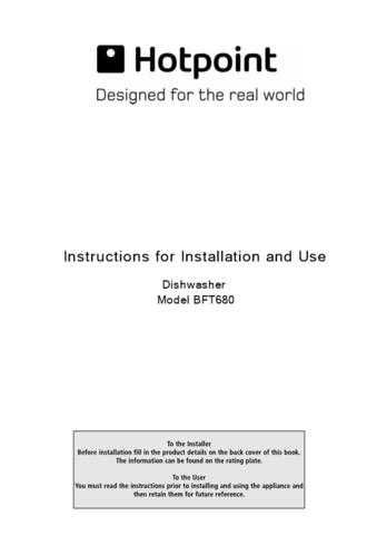 Hotpoint BFT-68 Dishwasher Operating Guide by download Mauritron #313506