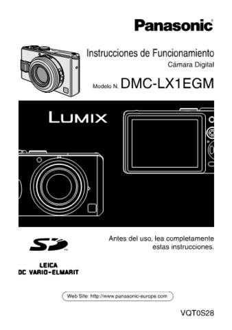 Panasonic DMC-LX1EB Manual by download Mauritron #298861