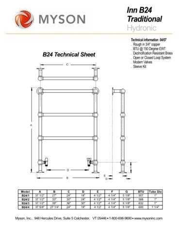 Honeywell Myson Innb24techs by download Mauritron #317910
