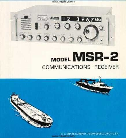 Drake MSR2 Information by download Mauritron #330385