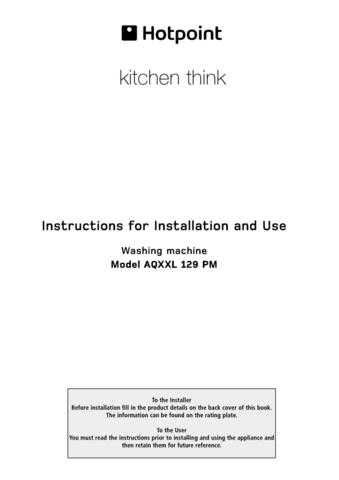 Hotpoint AQXXL129PM 19505634001 Laundry Operating Guide by download Mauritron #313477